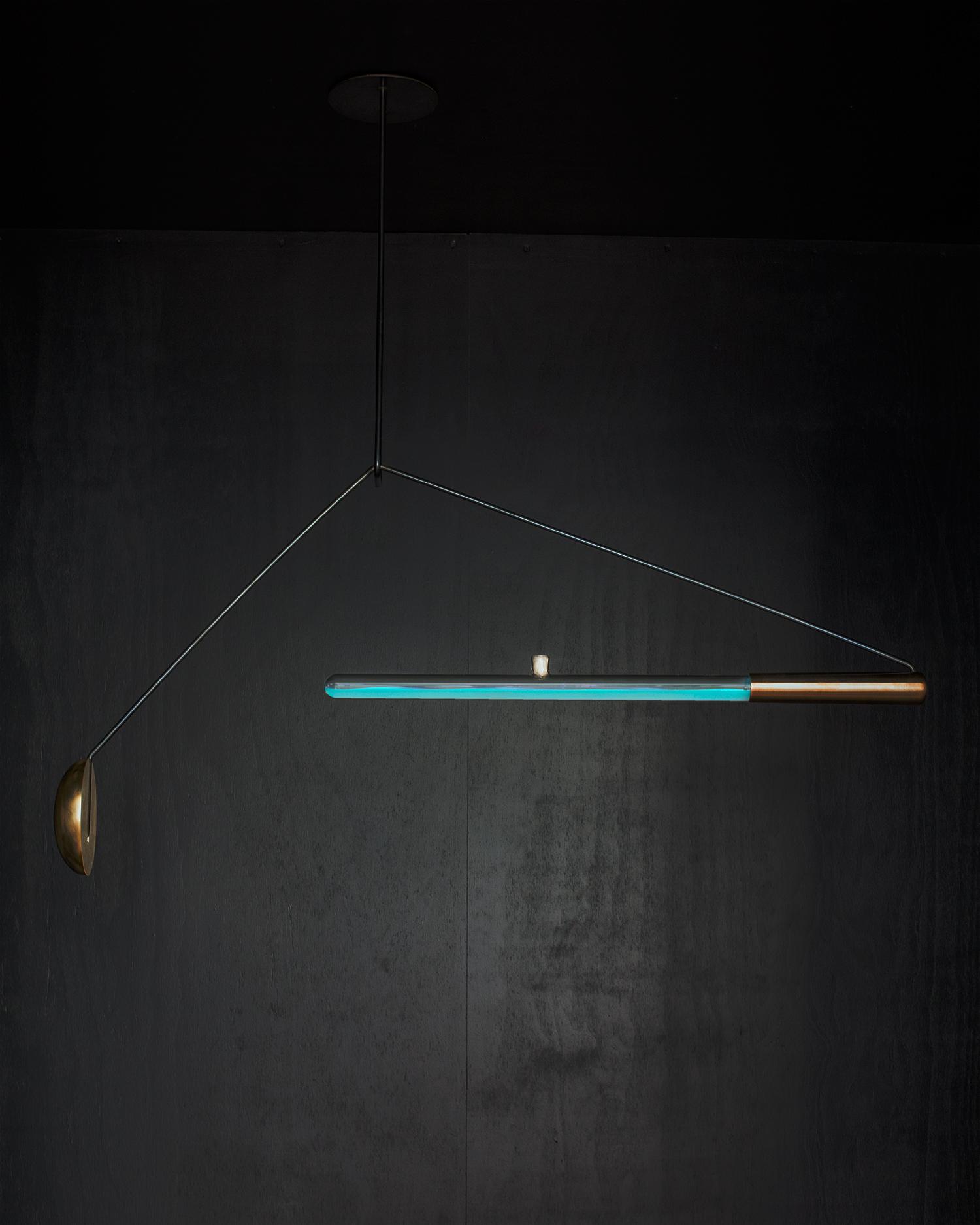 Ambio: Lampe mit bioluminiszierenden Bakterien (Bildquelle: Teresa van Dongen)