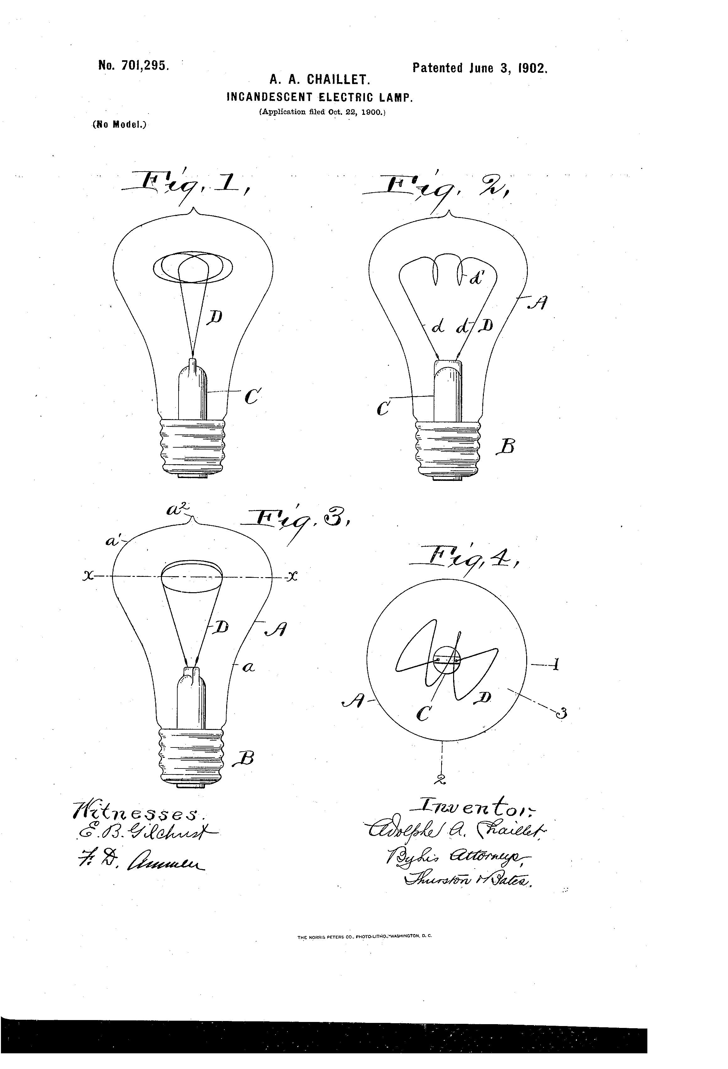 Das Original-Patent von Adolphe Chaillet (Bildquelle: priceonomics.com)