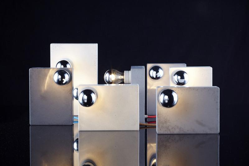 Lampe aus Beton - Blockmono (Bild: Dawanda)