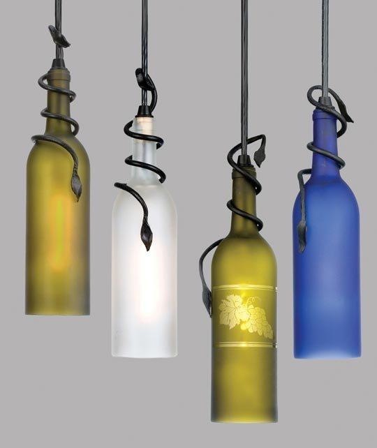 lampen aus weinflaschen-diy