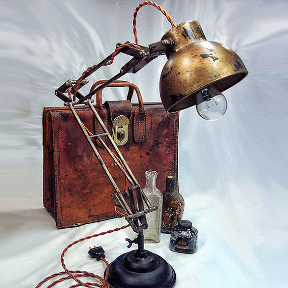 statt selbermachen 15 steampunk lampen. Black Bedroom Furniture Sets. Home Design Ideas