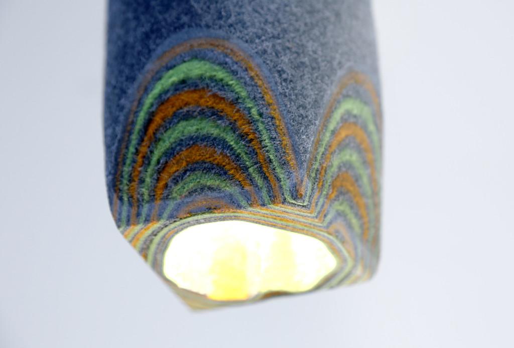"""""""Feltology"""": Lampen aus Filz von Lorenzo Polo (Bild: Lorenzo Polo)"""