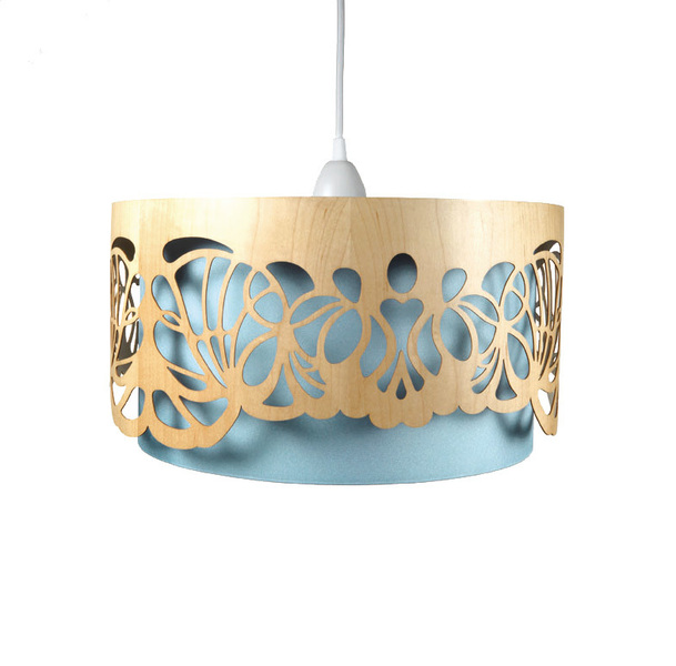 "Lampenschirm ""Handmade aus Holz"" von min-jon shop (Foto: min-jon shop via Dawanda)"