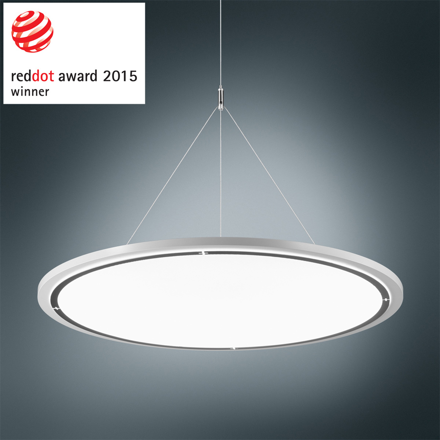 "Red Dot Design Award-Gewinner ""Lateralo Ring LED"": Büroleuchte von Trilux (Foto: Trilux)"