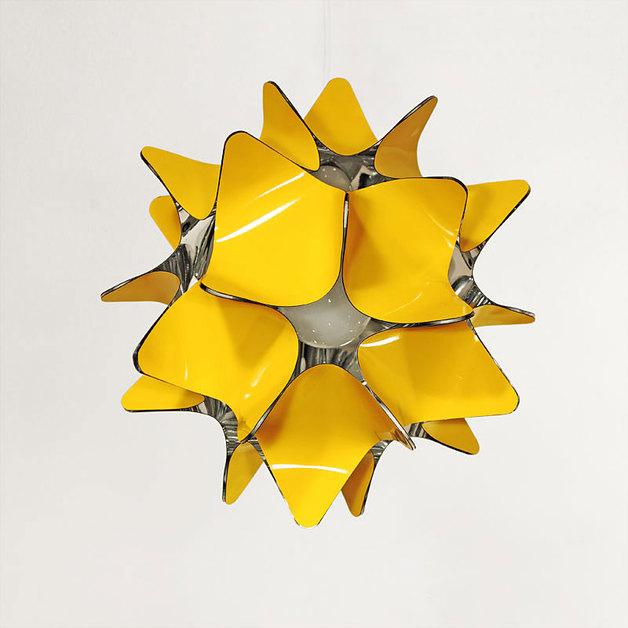 Gelb Innenlampenschirm von fumform (Foto: fumform via Dawanda)