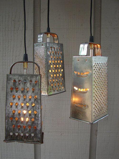 Lampe aus Käsereibe (Foto: Remodelista)