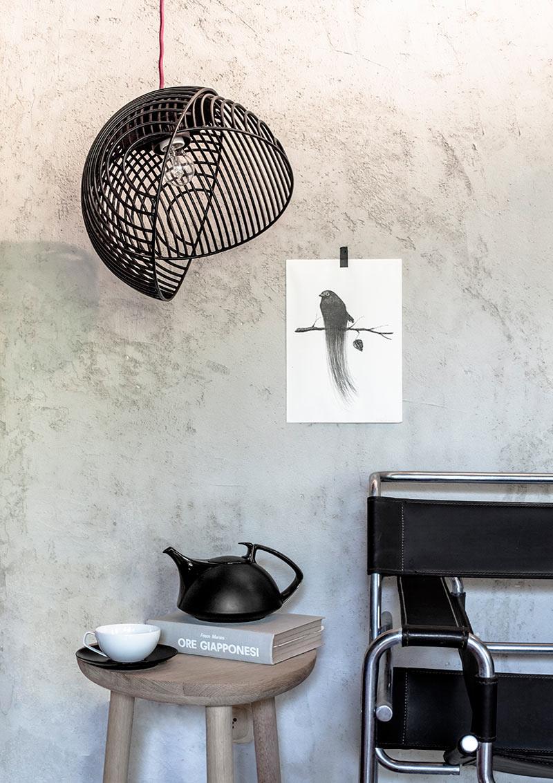 """Ein Bild der Op-Art-Designerlampe """"Dana"""" von Luis Arravillaga (Foto:-Luis Arravillaga)"""