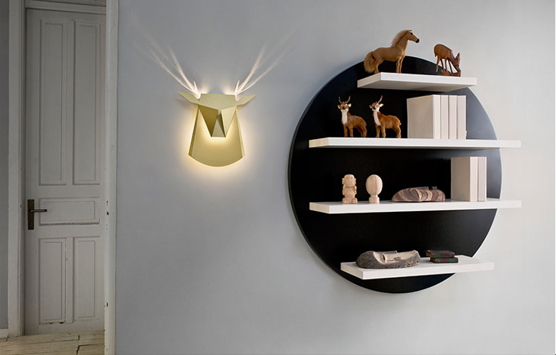 """Deer Head Lamp"" von Chen Bikovski (Foto: Popup Lighting)"
