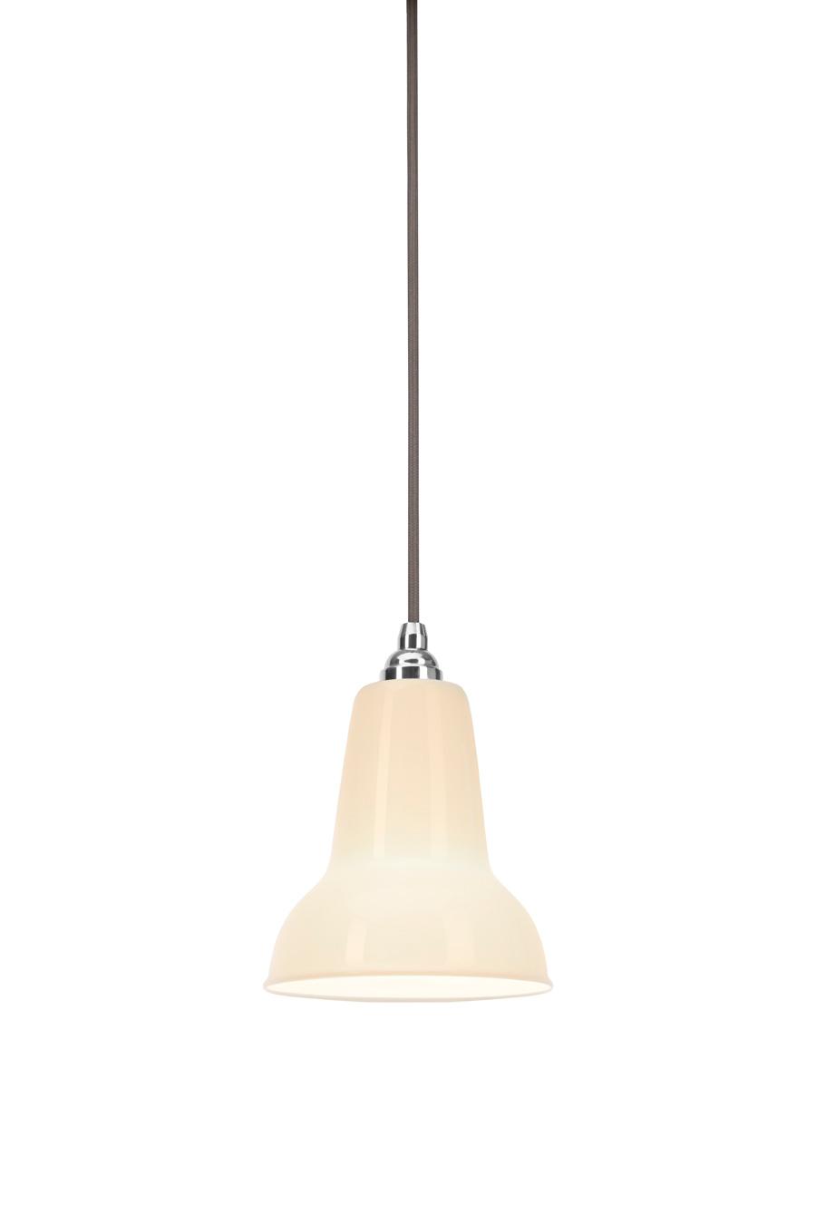 ^Anglepoise Original 1227 Mini: Pendelleuchte mit Lampenschirm aus Bone China (Foto: Anglepoise)