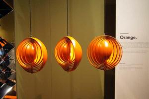 """""""Moon Lamp"""" von Verner Panton in orange"""