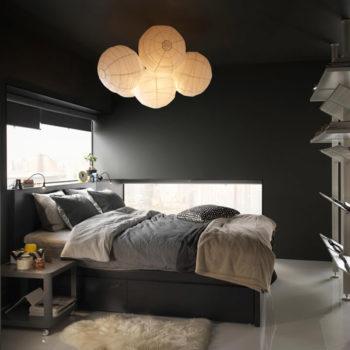 """""""Rigolit""""-Lampenschirm im Einsatz (Foto: Ikea)"""