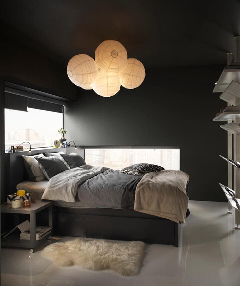 """Ikea Katalog 2019: """"Rigolit""""-Lampenschirm im Einsatz (Foto: Ikea)"""