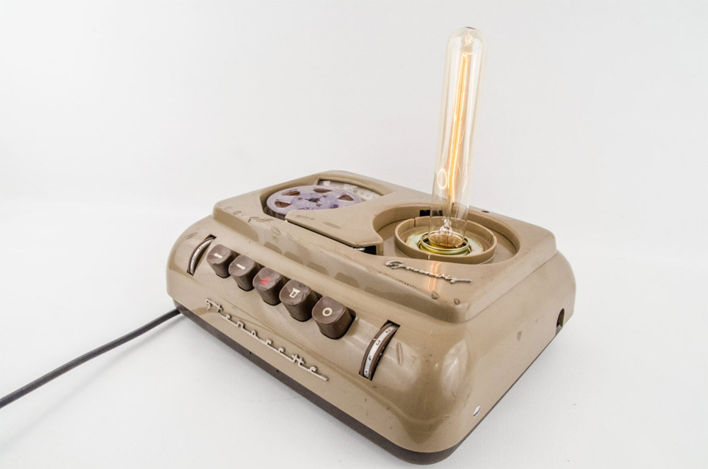 """Stenorette"" - Retro-Lampen aus altem Tonbandgerät"
