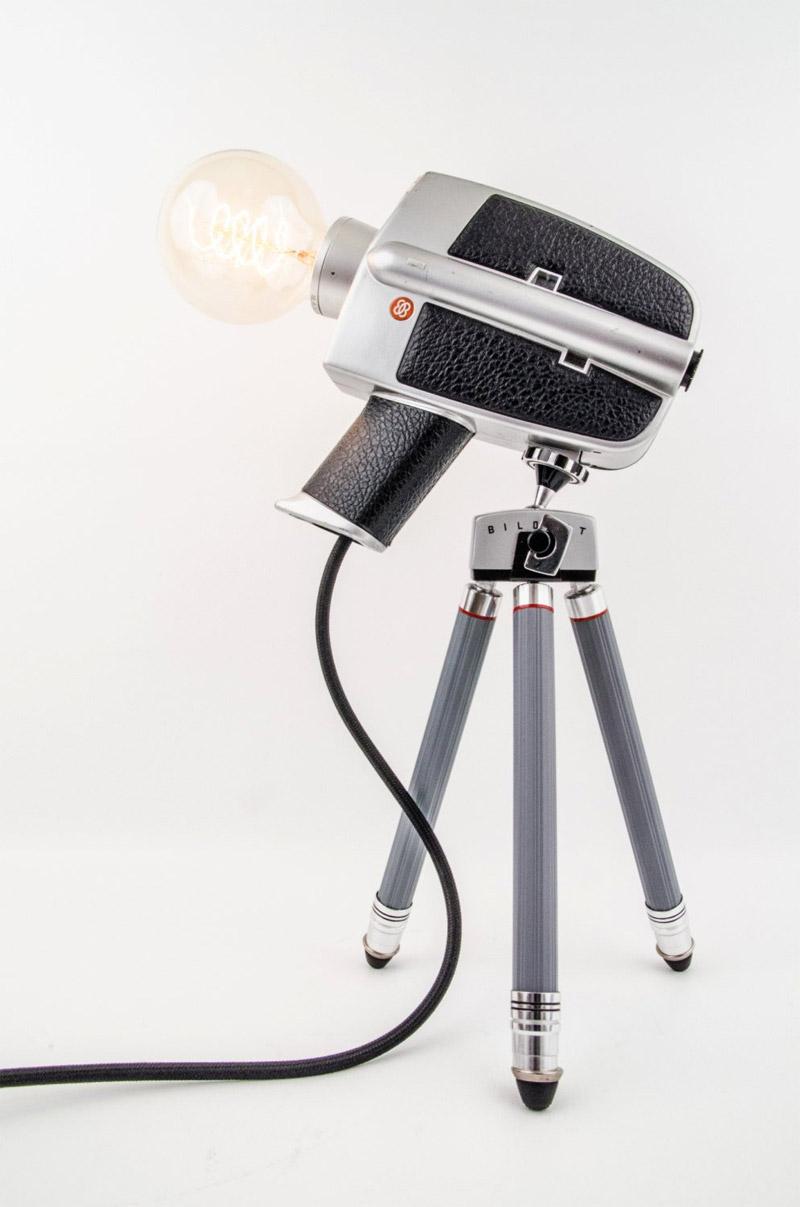 Kamera als Retro-Lampen